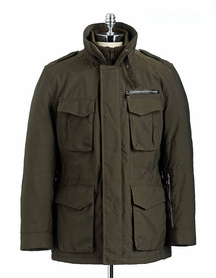 Marc New York Melrose Zip-Front Military Jacket