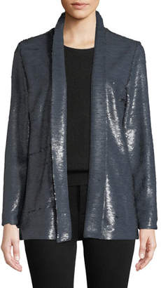 Cupcakes And Cashmere Anastasia Sequined Open-Front Jacket