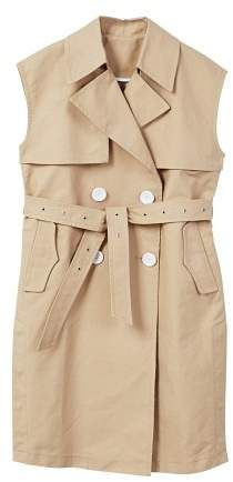 Buttons trench waistcoat