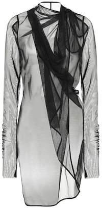 Rick Owens Lilies mesh wrap top