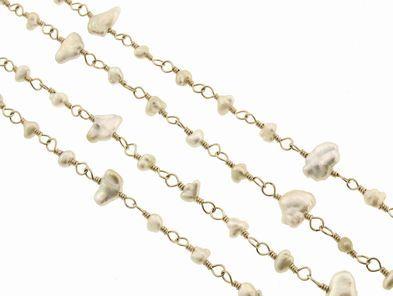 Mizuki Long Keshi Pearl Chain
