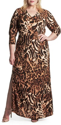 55220b7d3677 Plus Size Animal Print Dresses - ShopStyle