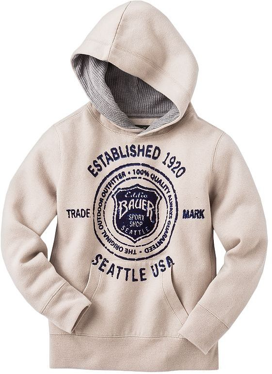 Eddie Bauer flocked logo fleece hoodie - boys 4-7