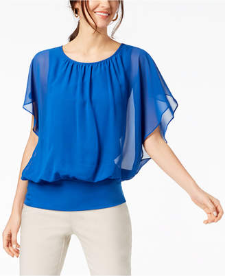 JM Collection Flutter-Sleeve Top