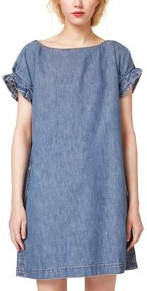 Esprit Ruffled Sleeve Denim Dress