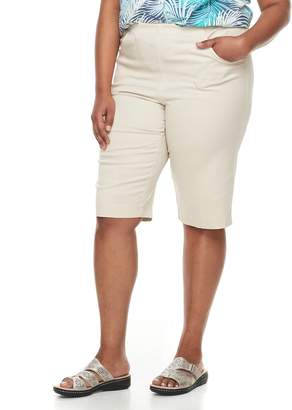 Croft & Barrow Plus Size Pull-On Skimmer Denim Shorts