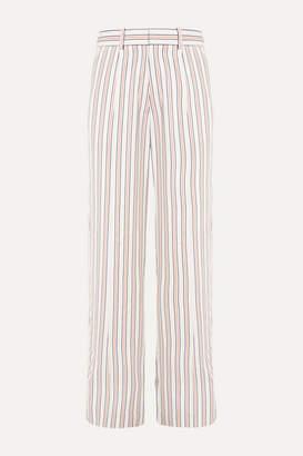 Victoria Beckham Striped Crepe De Chine Pants - Ivory