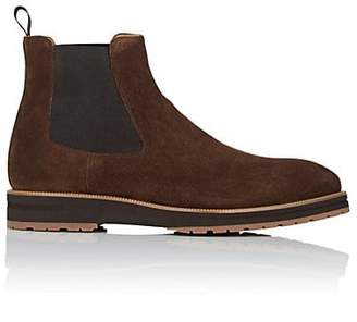 di Bianco Men's Suede Chelsea Boots - Brown