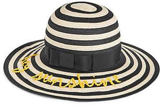 Kate Spade Hey Sunshine Striped Straw Sun Hat