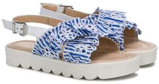 Ermanno Scervino ruffle detail sandals