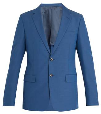 Prada Single Breasted Wool And Mohair Blend Blazer - Mens - Blue
