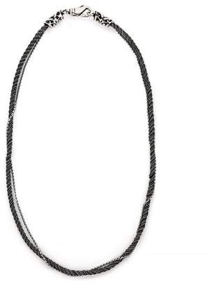 Emanuele Bicocchi Double Chain Sterling Silver Necklace - Mens - Silver