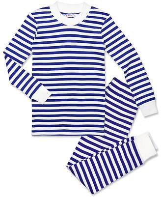 Sara's Prints Boys' Striped Pajama Shirt & Pants Set - Little Kid