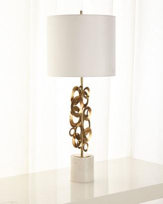 John-Richard Collection Brass Buffet Lamp