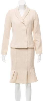 Magaschoni Metallic Skirt Suit