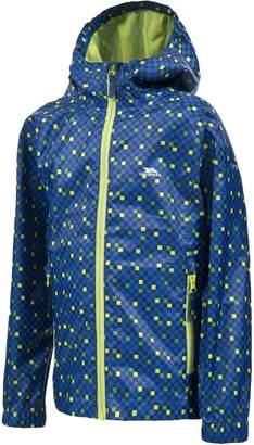 Trespass Childrens/Boys Callan Waterproof Rain Jacket With Adjustable Grown On Hood