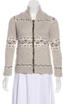 Golden Goose Zip-Up Knit Sweater