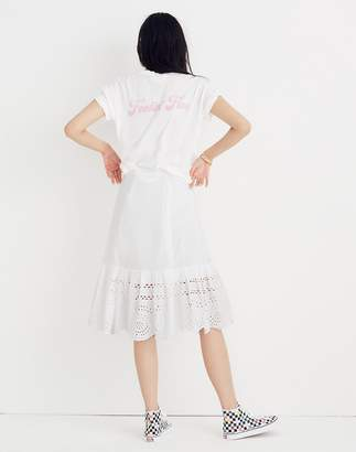 Madewell Eyelet Midi Skirt
