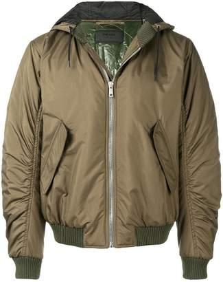 Prada hooded bomber jacket