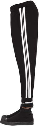 Neil Barrett Skinny Viscose Pants W/ Stripes