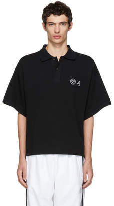 Gosha Rubchinskiy Black Embroidered Polo