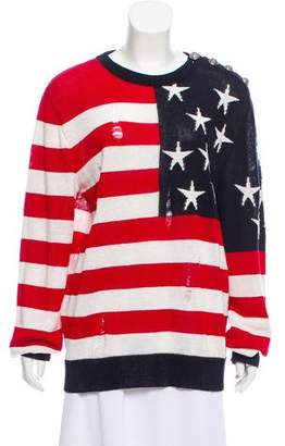 Balmain Flag Linen Sweater