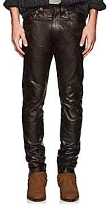 Rrl Men's Leather Pants-Black Size 33