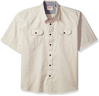 Wrangler Men's Big and Tall Authentics Short Sleeve Classic Woven Shirt
