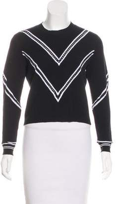 Tanya Taylor Knit Crew-Neck Sleeve Sweater