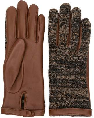 Agnelle knitted front gloves