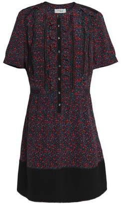 Coach Ruffle-Trimmed Floral-Print Crepe Mini Dress