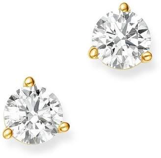 Bloomingdale's Certified Diamond Stud Earrings in 18K Yellow Gold Martini Setting, 0.50 ct. t.w. - 100% Exclusive