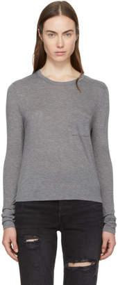 Alexander Wang Grey Long Sleeve Classic T-Shirt