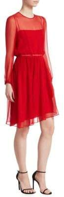 No.21 No. 21 No. 21 Women's Pleated Silk Dress - Red - Size 38 (4)
