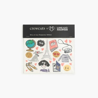 Kids' crewcuts x Love and MadnessTM Olive and Izzy temporary tattoos $12.50 thestylecure.com