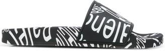 Balenciaga logo printed slides