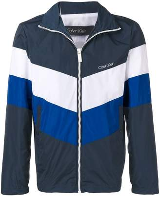 CK Calvin Klein colour block jacket