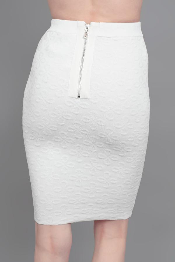 Torn By Ronny Kobo Celeste Skirt White