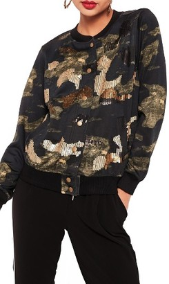 Women's Missguided Sequin Bomber Jacket $93 thestylecure.com