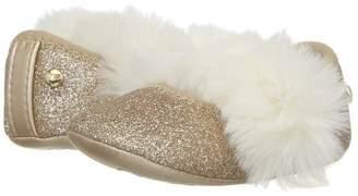 UGG Fluff Glitter Ballet Flat Girls Shoes