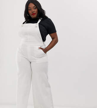 Current Air Plus wide leg raw hem overalls