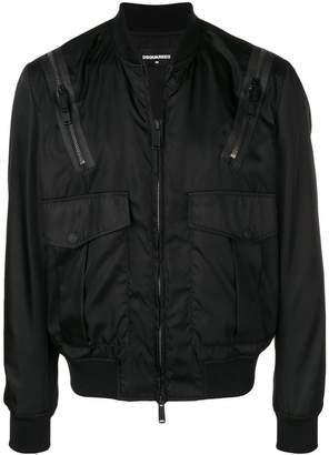 DSQUARED2 multi-pocket bomber jacket