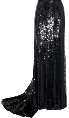 Carolina Herrera Sequined Silk Maxi Skirt