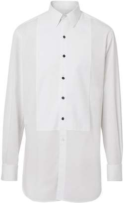 Burberry Modern Fit Panelled Bib Cotton Twill Evening Shirt