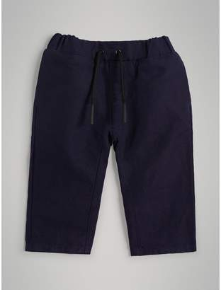 Burberry Childrens Cotton Linen Drawcord Trousers