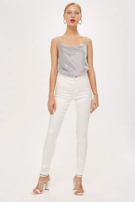 Topshop Moto white sateen jamie jeans