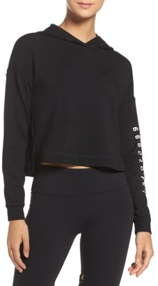 Women's Alo Screenprint French Terry Crop Hoodie $74 thestylecure.com