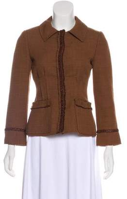 Alberta Ferretti Virgin Wool-Blend Blazer