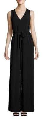 Lafayette 148 New York Belted Sleeveless Jumpsuit
