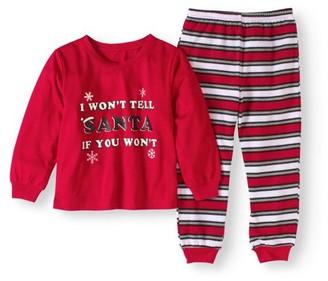 Holiday Family Pajamas Baby Toddler Unisex Naughty or Nice 2 pc Pajama Set